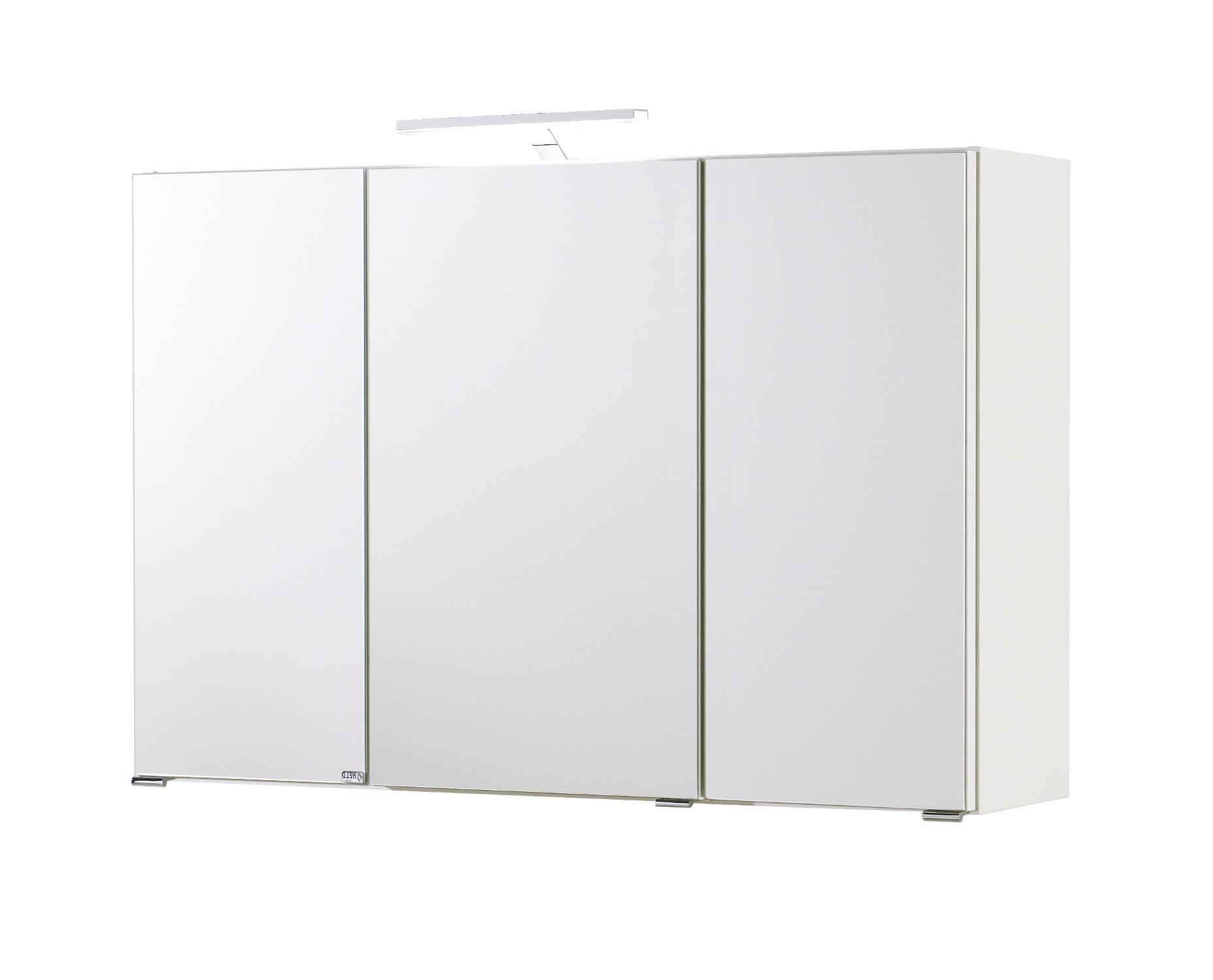 Neu badezimmerspiegel spiegelschrank mit 3 t ren 3d badspiegel 100cm weiss ebay - Spiegelschrank 3 turen ...