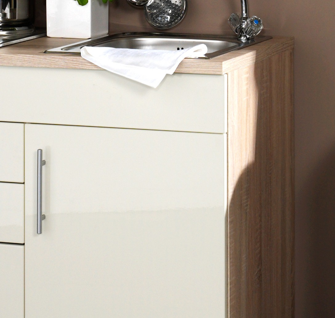 neu singlek che berlin minik che 100cm b rok che hochglanz creme sonoma ebay. Black Bedroom Furniture Sets. Home Design Ideas