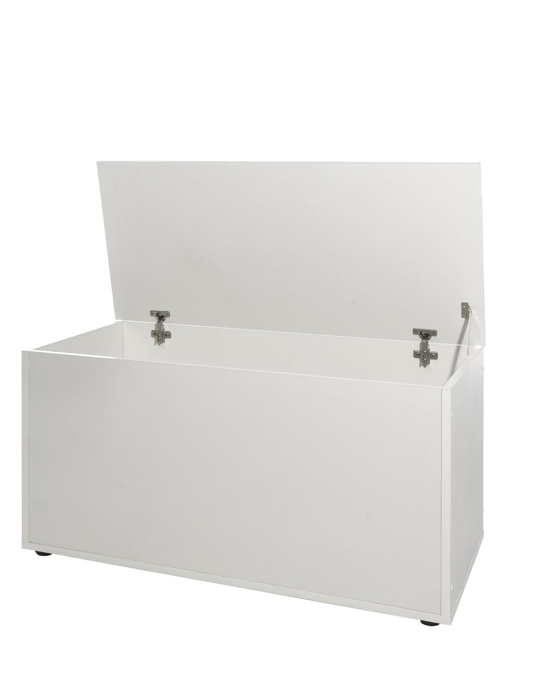 neu truhe klapptruhe aufbewahrungstruhe mit klappdeckel weiss. Black Bedroom Furniture Sets. Home Design Ideas