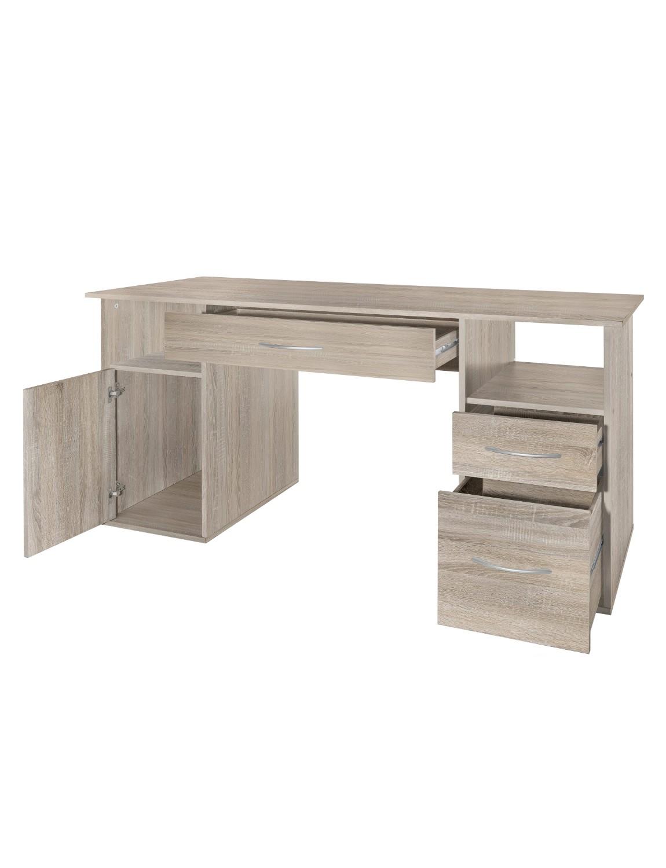 neu schreibtisch tom computertisch pc schreibtisch b rotisch 145 cm sonoma. Black Bedroom Furniture Sets. Home Design Ideas