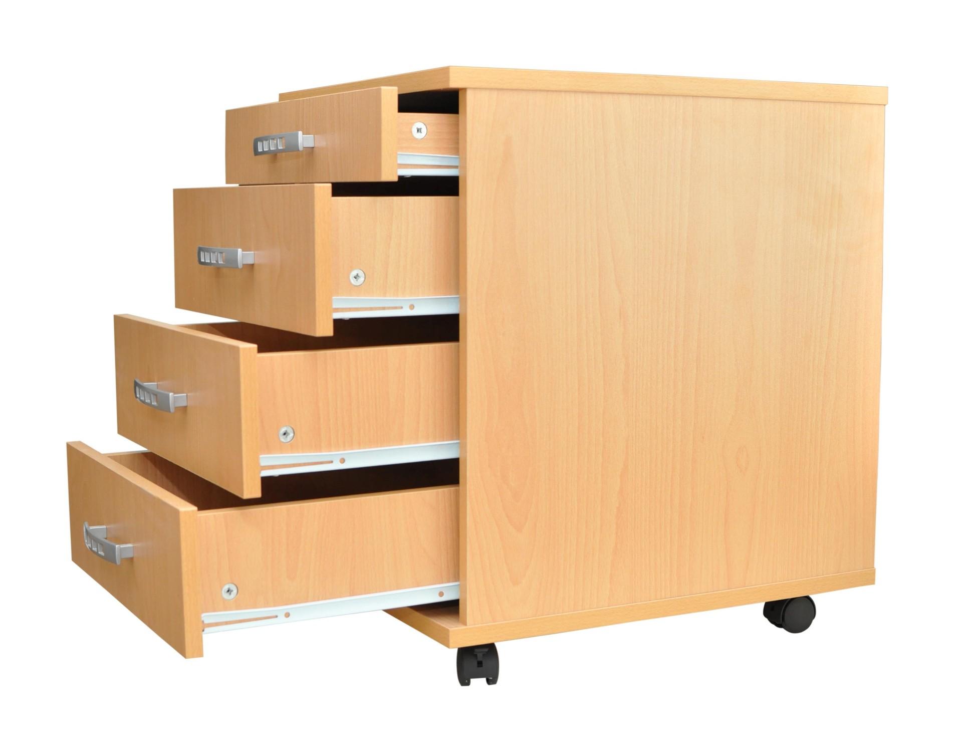 neu schreibtisch rollcontainer ravenna rollwagen schrank. Black Bedroom Furniture Sets. Home Design Ideas