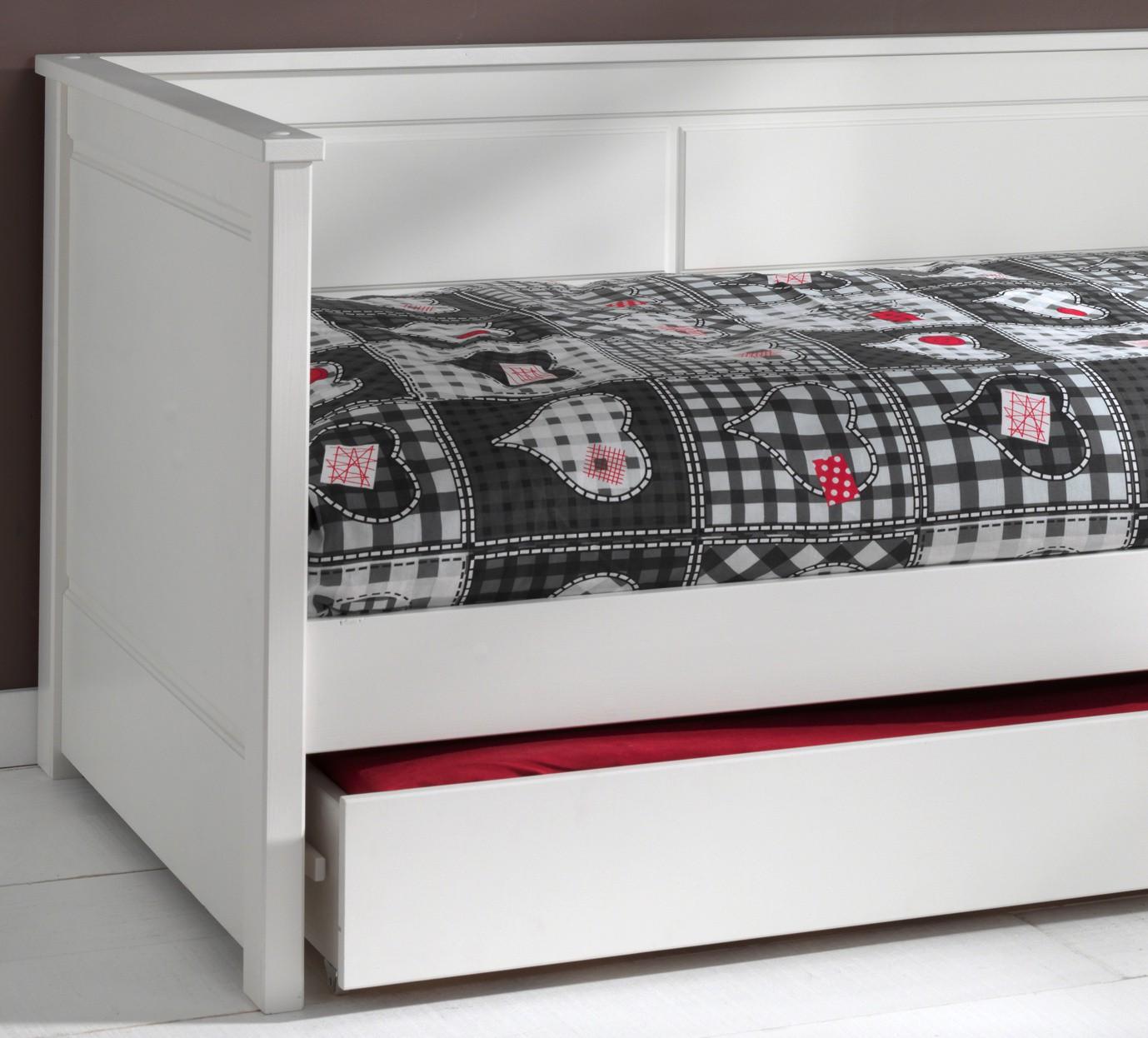 neu kojenbett pino jugendbett g stebett mit bettschublade kiefer weiss ebay. Black Bedroom Furniture Sets. Home Design Ideas