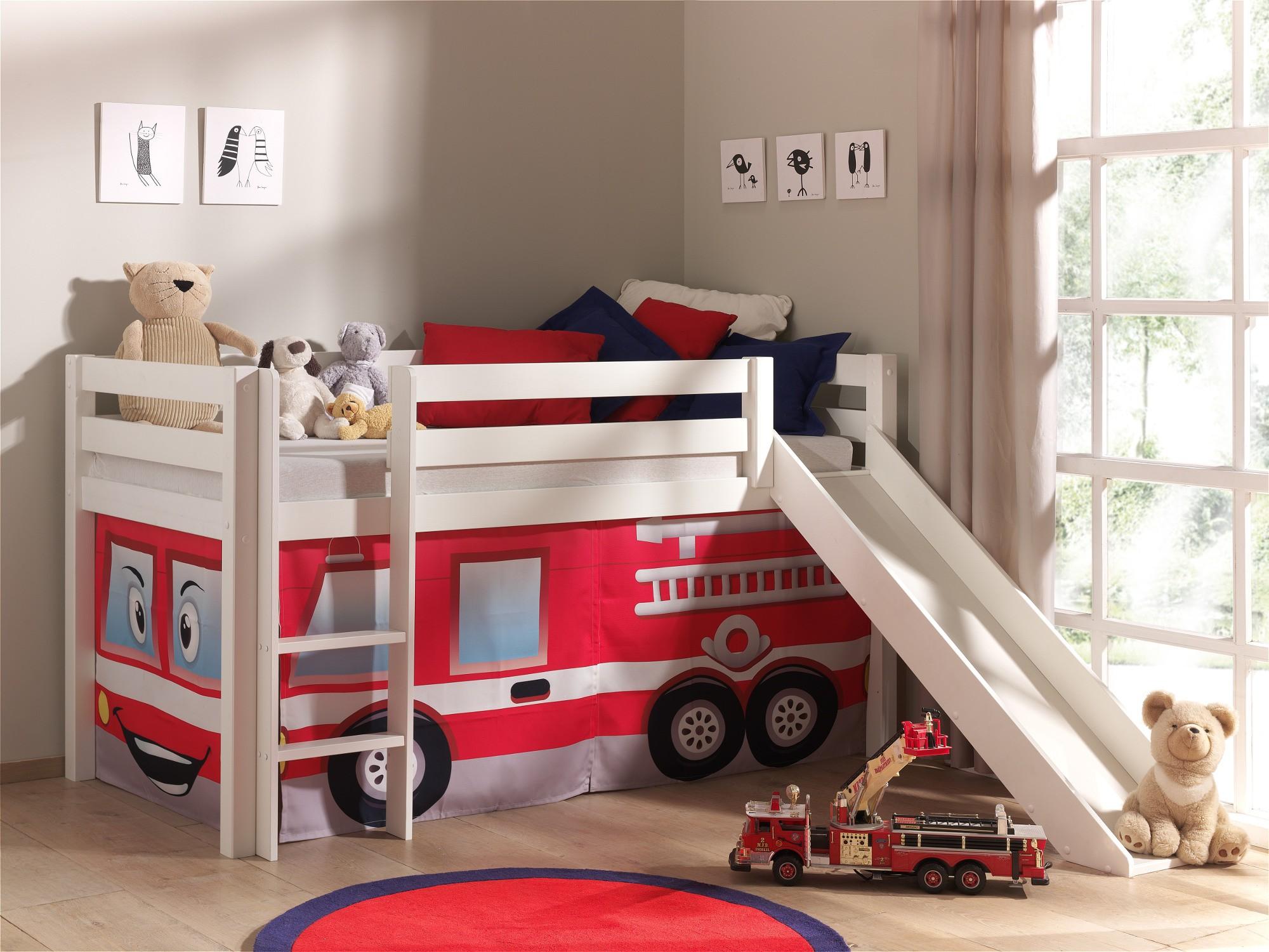 neu spielbett pino feuerwehr hochbett kinderbett rutsche. Black Bedroom Furniture Sets. Home Design Ideas