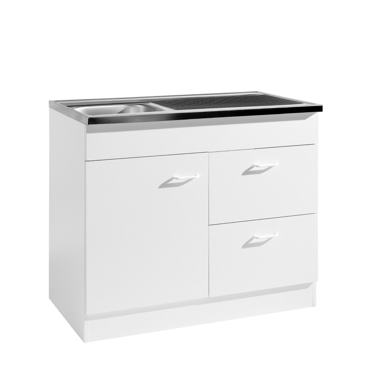 neu k che sp le sp lenschrank 100x50 sp lschrank weiss ebay. Black Bedroom Furniture Sets. Home Design Ideas