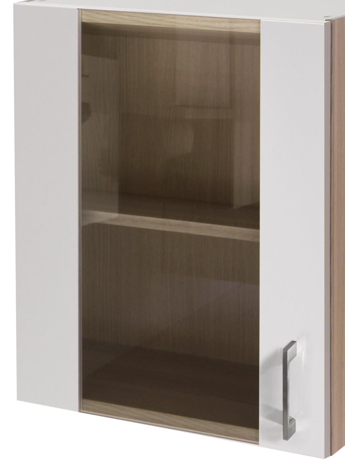 glas h ngeschrank florenz k chen h ngeschrank oberschrank glas t r 50 cm weiss ebay. Black Bedroom Furniture Sets. Home Design Ideas