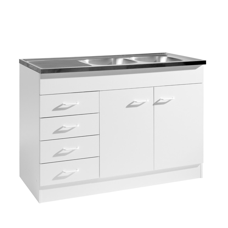 neu k che sp le sp lenschrank 120x50 sp lschrank weiss ebay. Black Bedroom Furniture Sets. Home Design Ideas