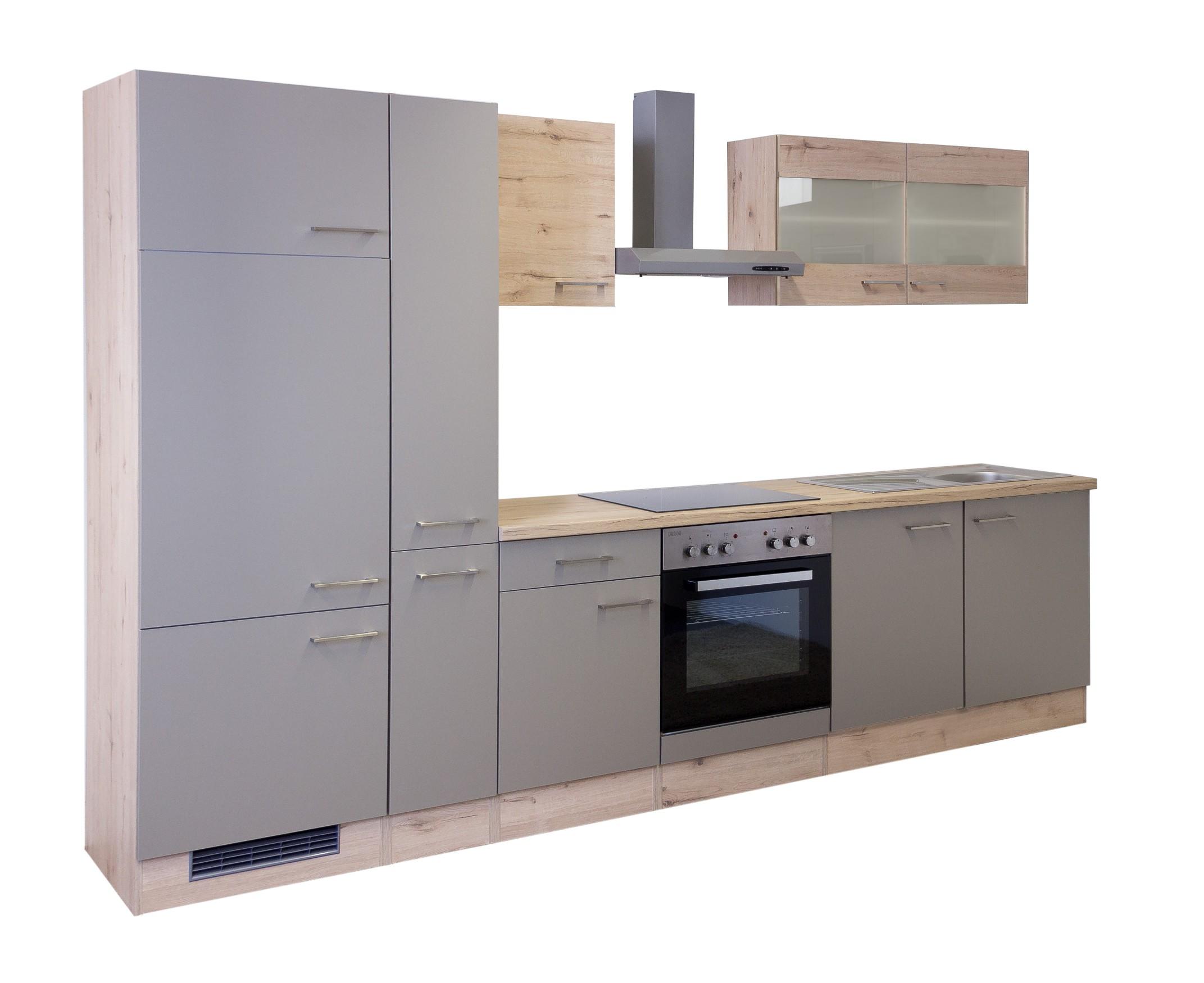 Küchenzeile RIVA Küchenblock mit Elektrogeräten 300 cm