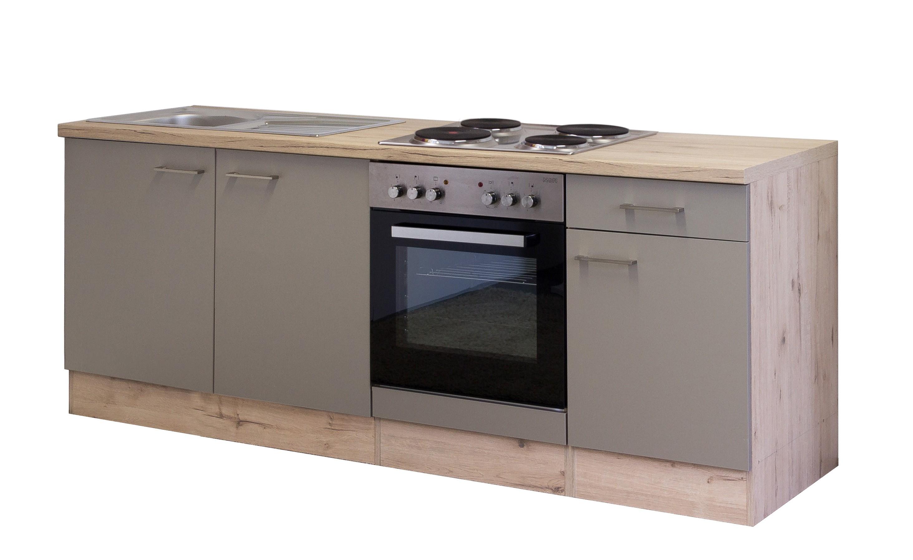 Kuchenzeile riva kuchenblock mit elektrogeraten 210 cm for Küchenzeile 250 cm mit elektroger ten