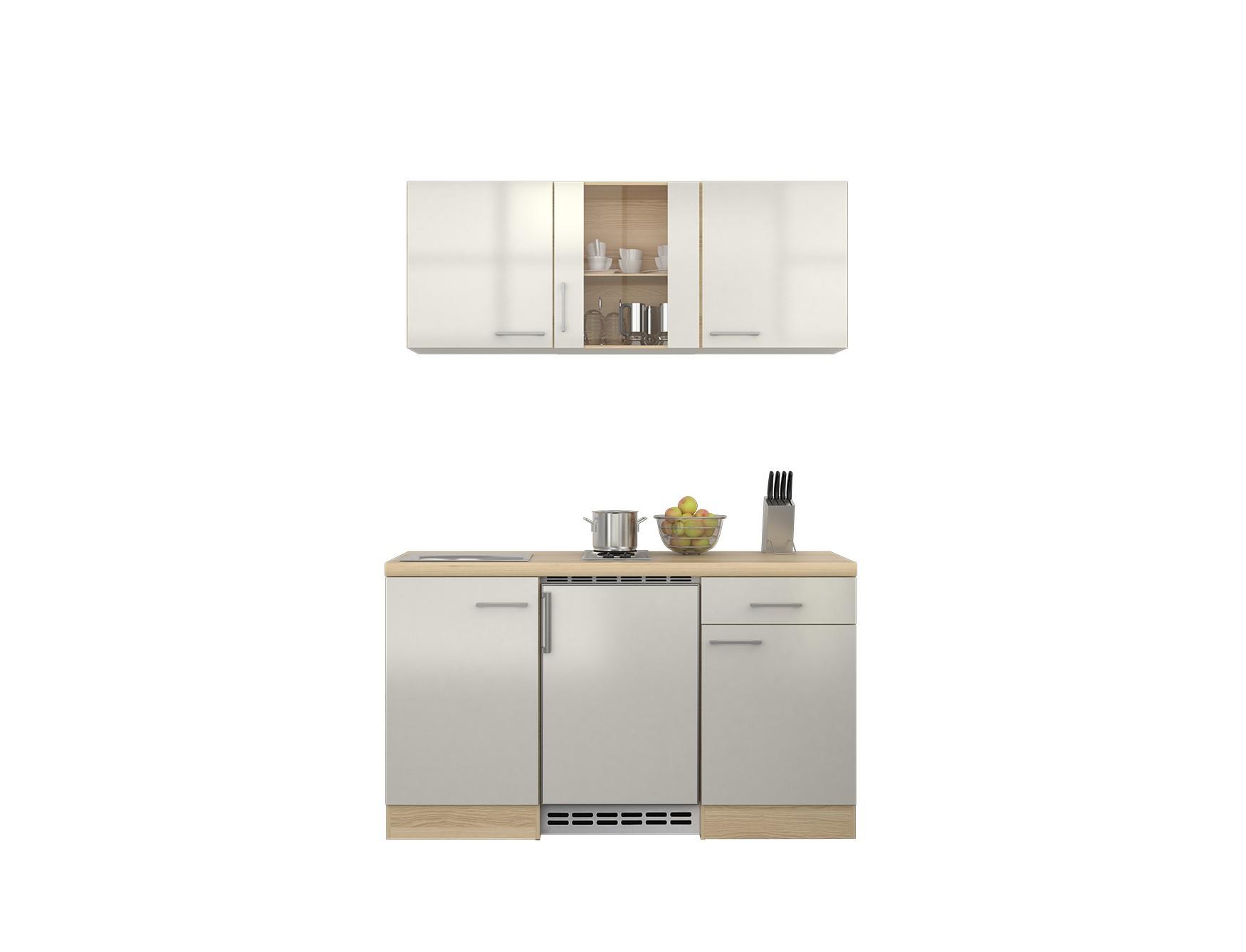 pantryk che florenz minik che mit unterbau k hlschrank singlek che 150 cm weiss ebay. Black Bedroom Furniture Sets. Home Design Ideas