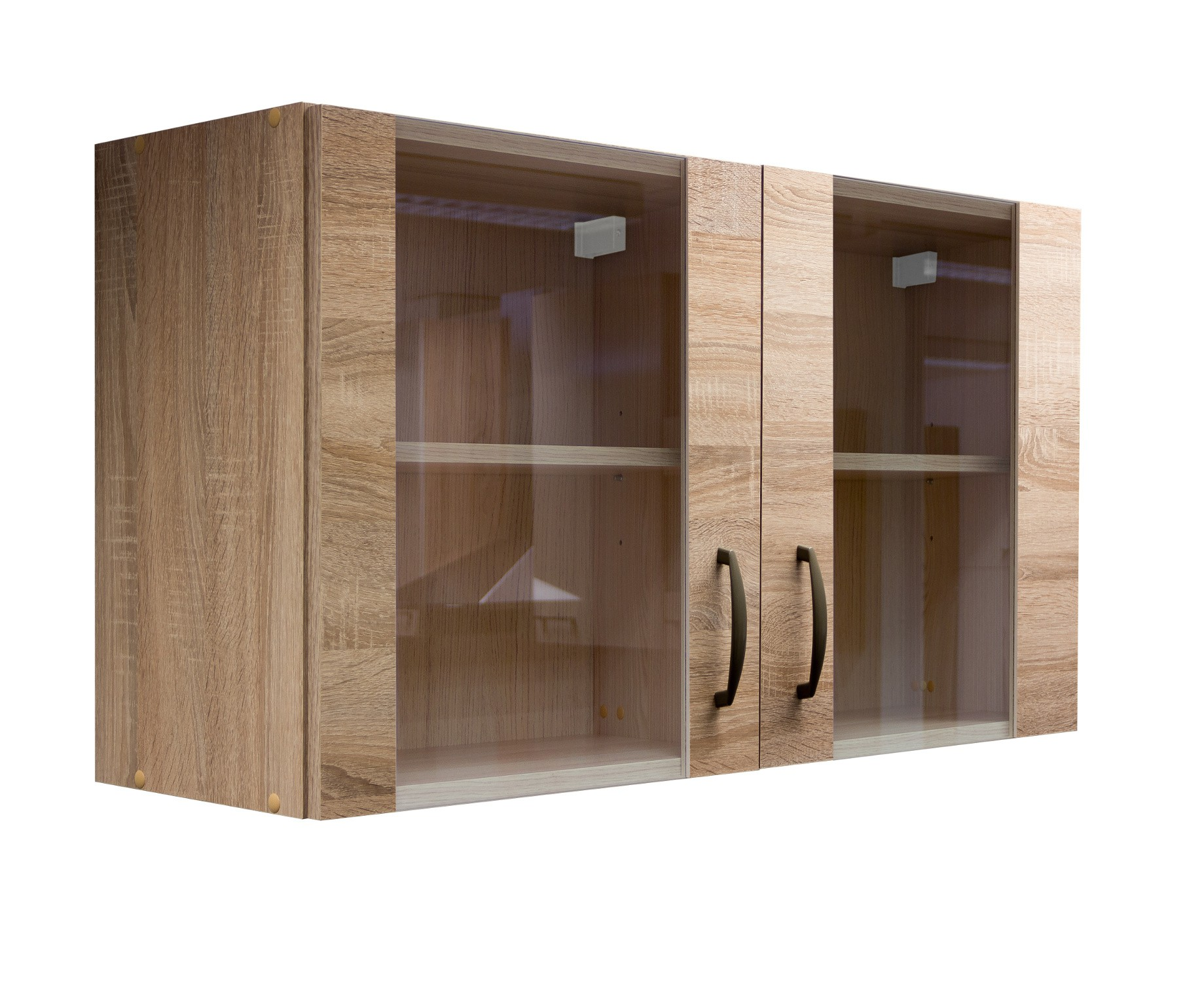 glas h ngeschrank herne k chen h ngeschrank oberschrank 100 cm eiche sonoma ebay. Black Bedroom Furniture Sets. Home Design Ideas
