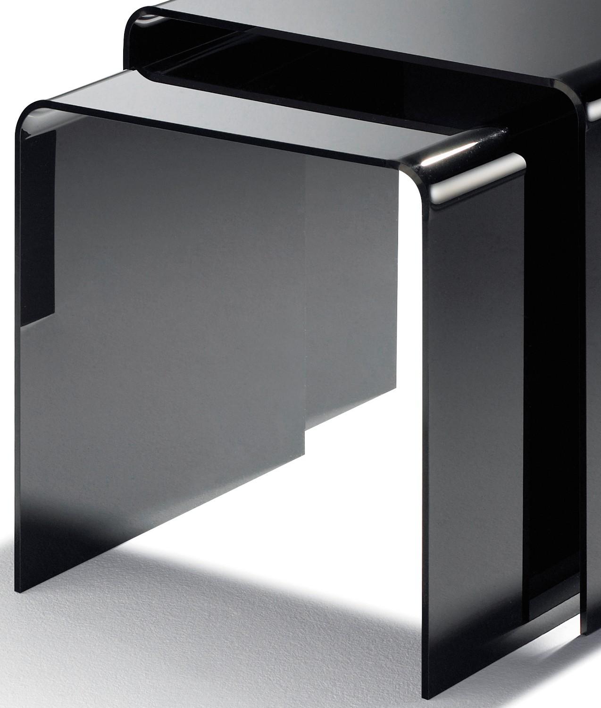 beistelltische york acryl tische beistell tisch set acrylglastische schwarz ebay. Black Bedroom Furniture Sets. Home Design Ideas