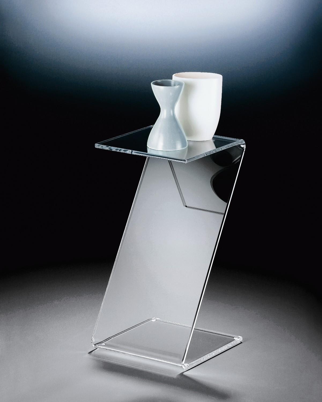 Acryl beistelltisch york tisch acrylglastisch 60 cm hoch transparent