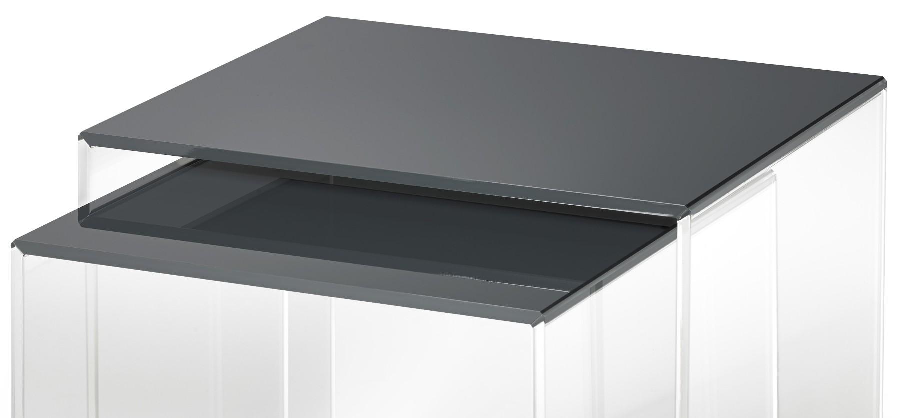 beistelltische vegas acrylglas tische aus acryl transparent anthrazit ebay. Black Bedroom Furniture Sets. Home Design Ideas