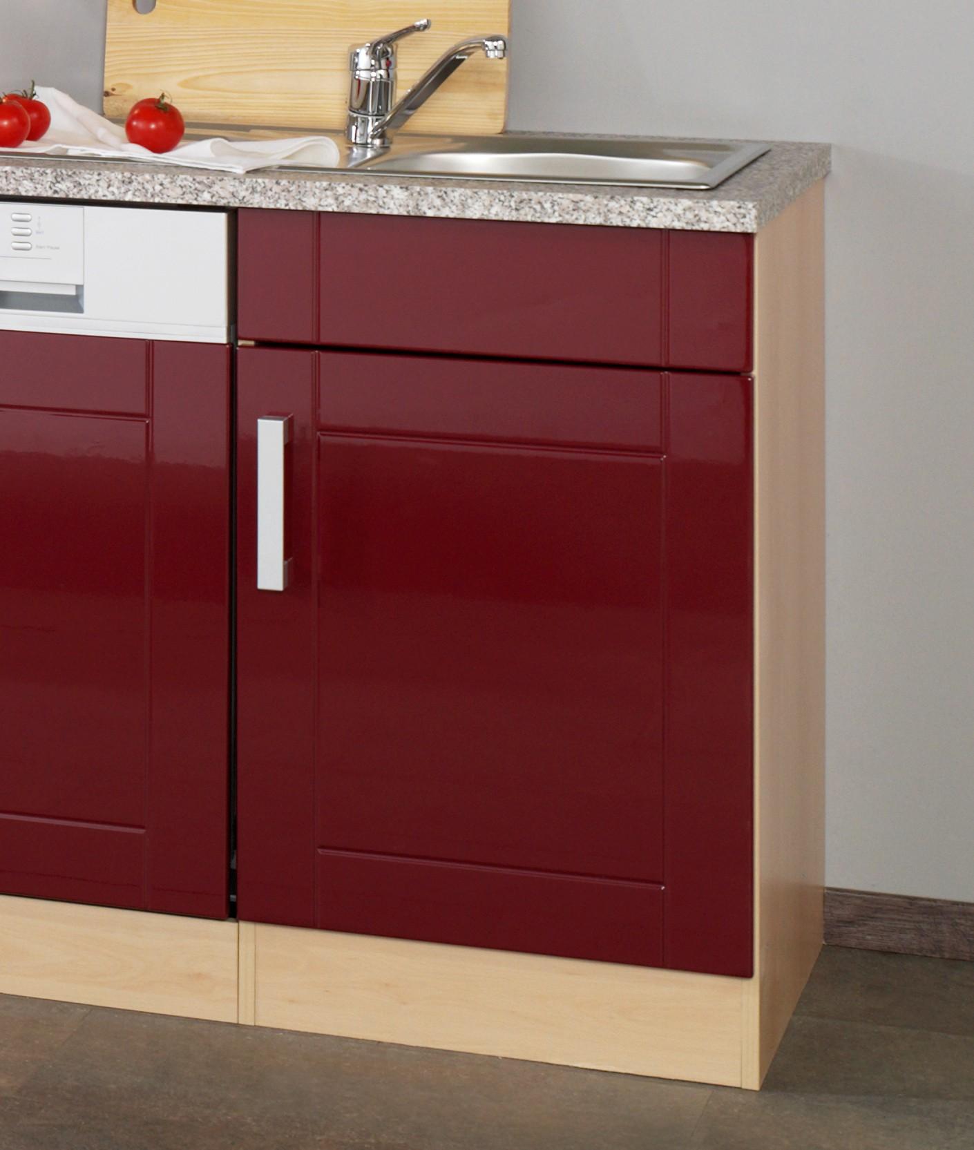 neu k chen leerblock k chenzeile varel k chenblock 220cm rot. Black Bedroom Furniture Sets. Home Design Ideas