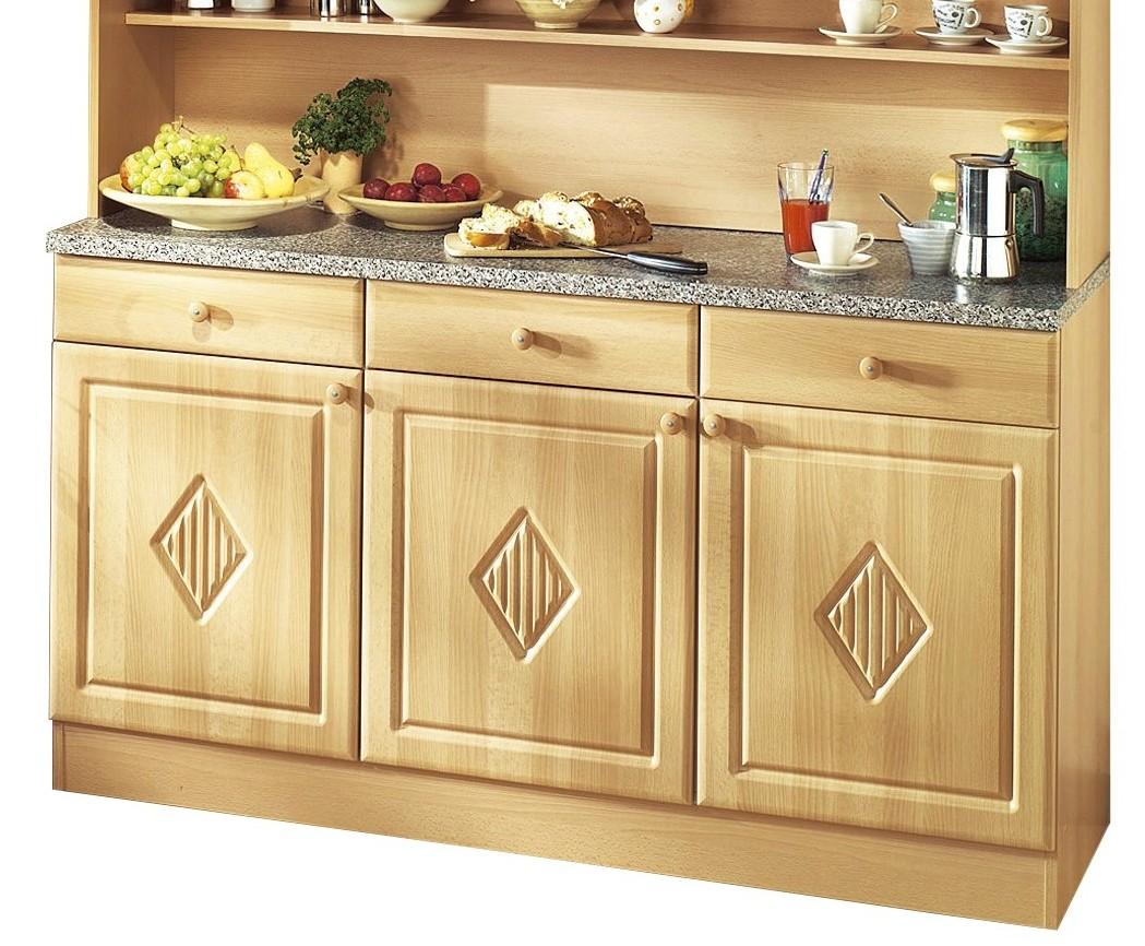 neu k chen buffet raute k chenbuffet buffetschr nke 150cm landhaus buche ebay. Black Bedroom Furniture Sets. Home Design Ideas