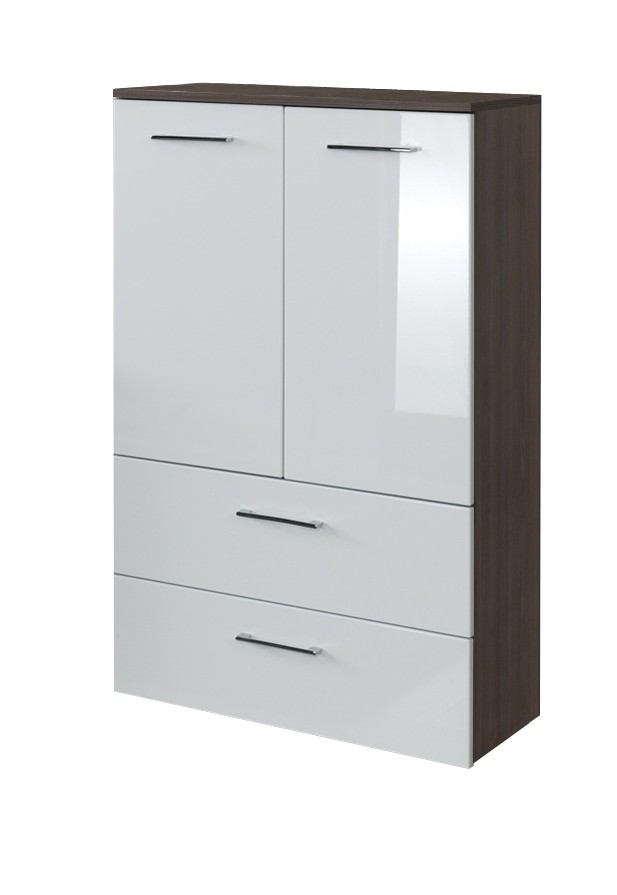 neu badezimmer midischrank marinello midi highboard badezimmerschrank 70 cm wei ebay. Black Bedroom Furniture Sets. Home Design Ideas