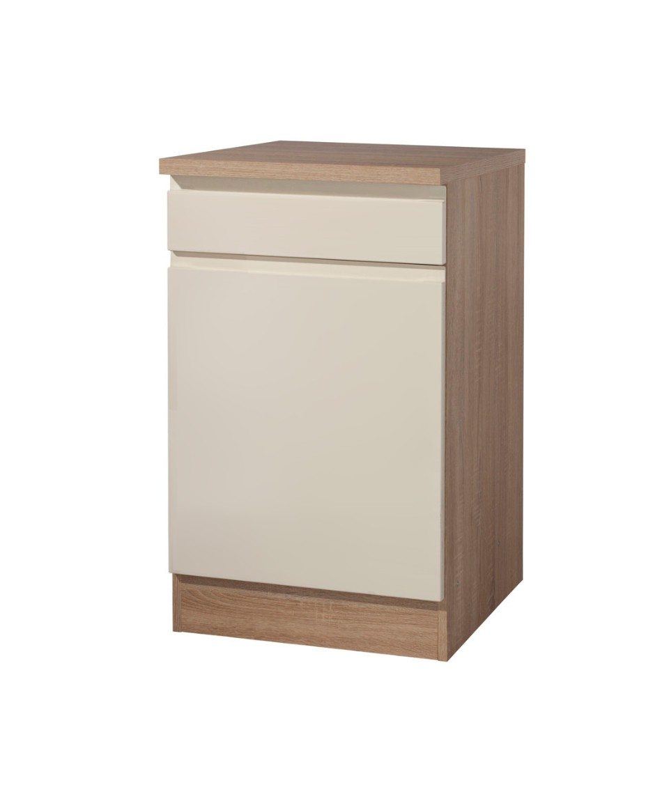 neu k chen unterschrank cardiff k chenschrank 50cm creme sonoma ebay. Black Bedroom Furniture Sets. Home Design Ideas