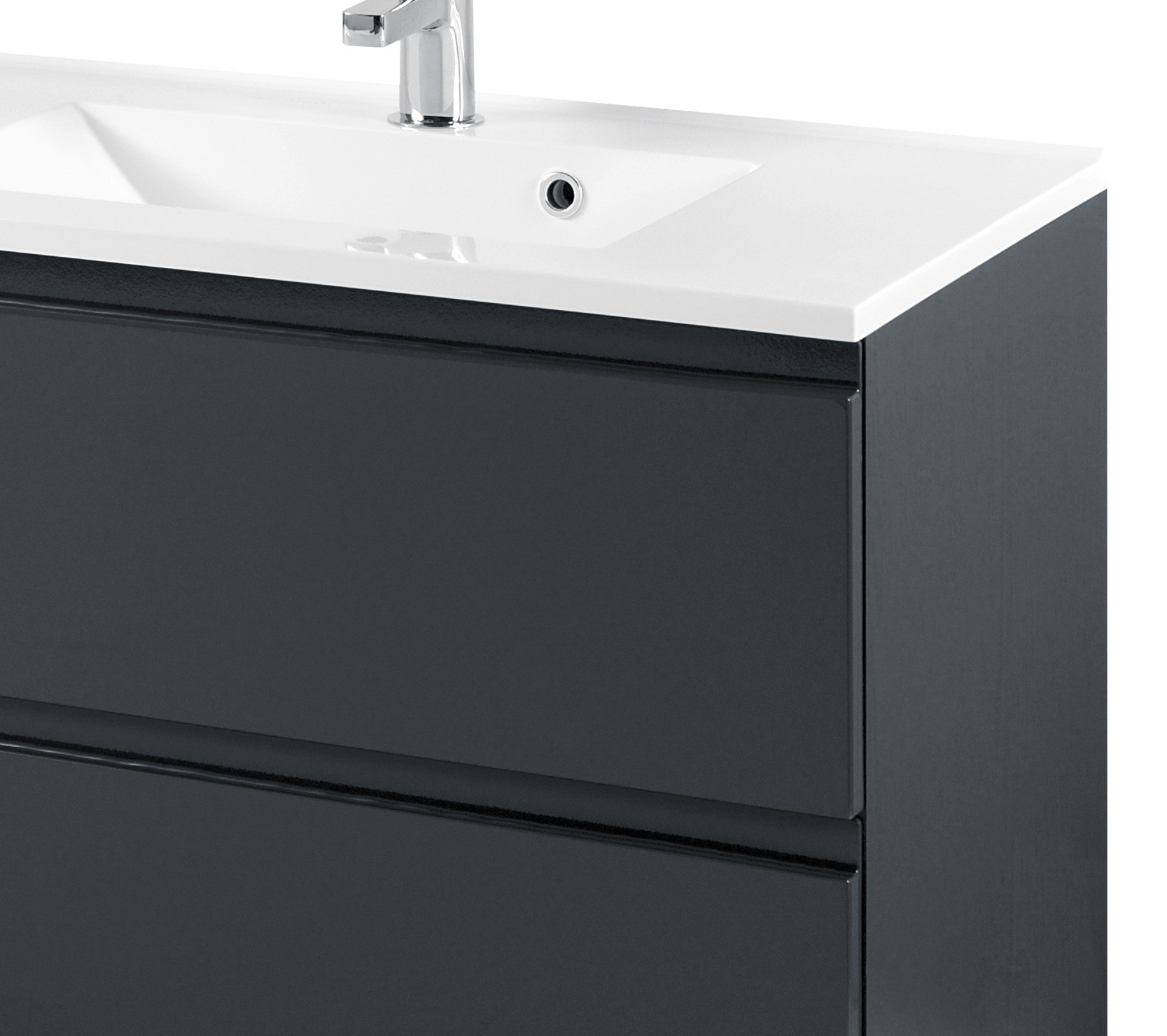 neu badezimmer waschtisch mit becken cardiff waschplatz 80 cm grau ebay