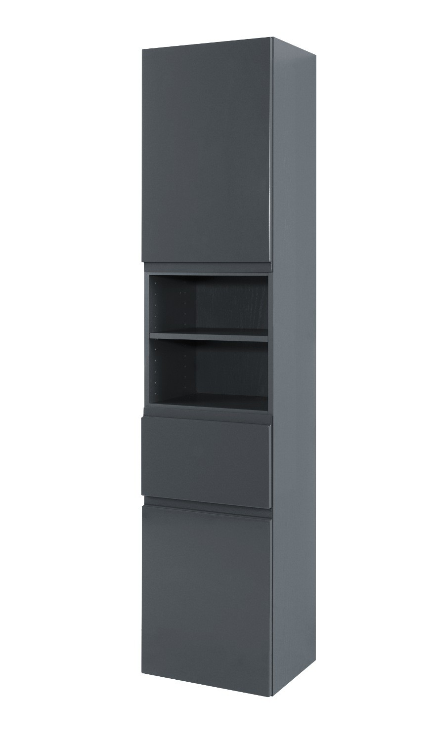neu badezimmer hochschrank cardiff seitenschrank 40 cm grau. Black Bedroom Furniture Sets. Home Design Ideas