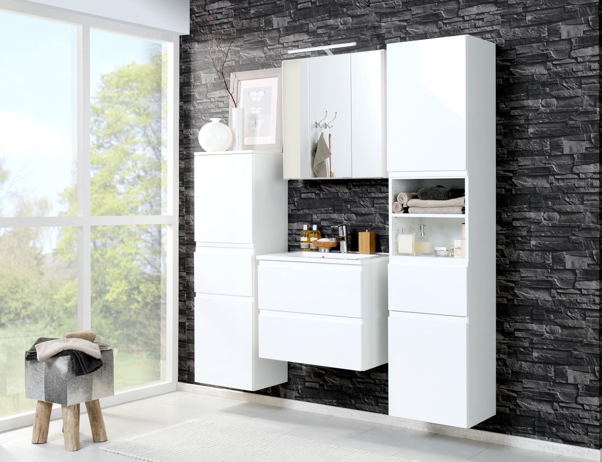 neu badezimmer badm belset cardiff 6 teiliges waschtisch badset weiss ebay. Black Bedroom Furniture Sets. Home Design Ideas
