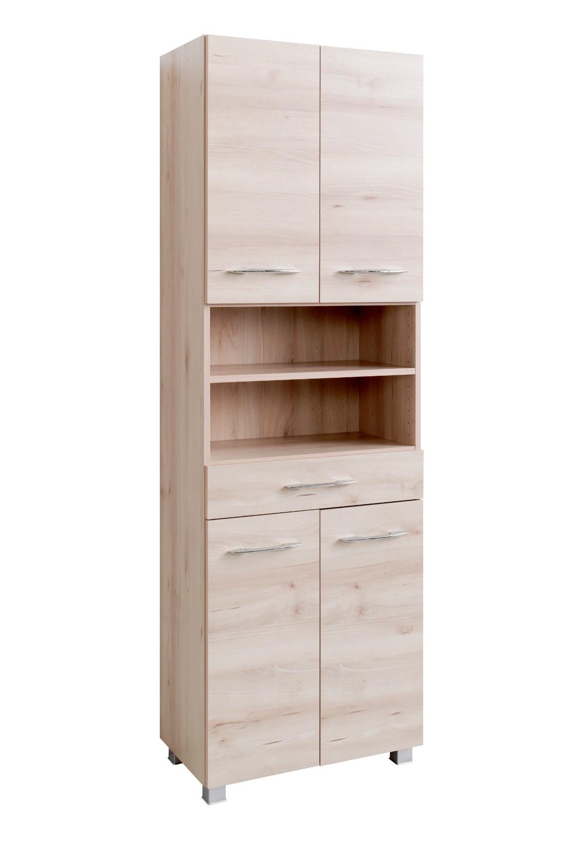 badezimmer hochschrank portofino seitenschrank badschrank 60 cm buche iconic ebay. Black Bedroom Furniture Sets. Home Design Ideas