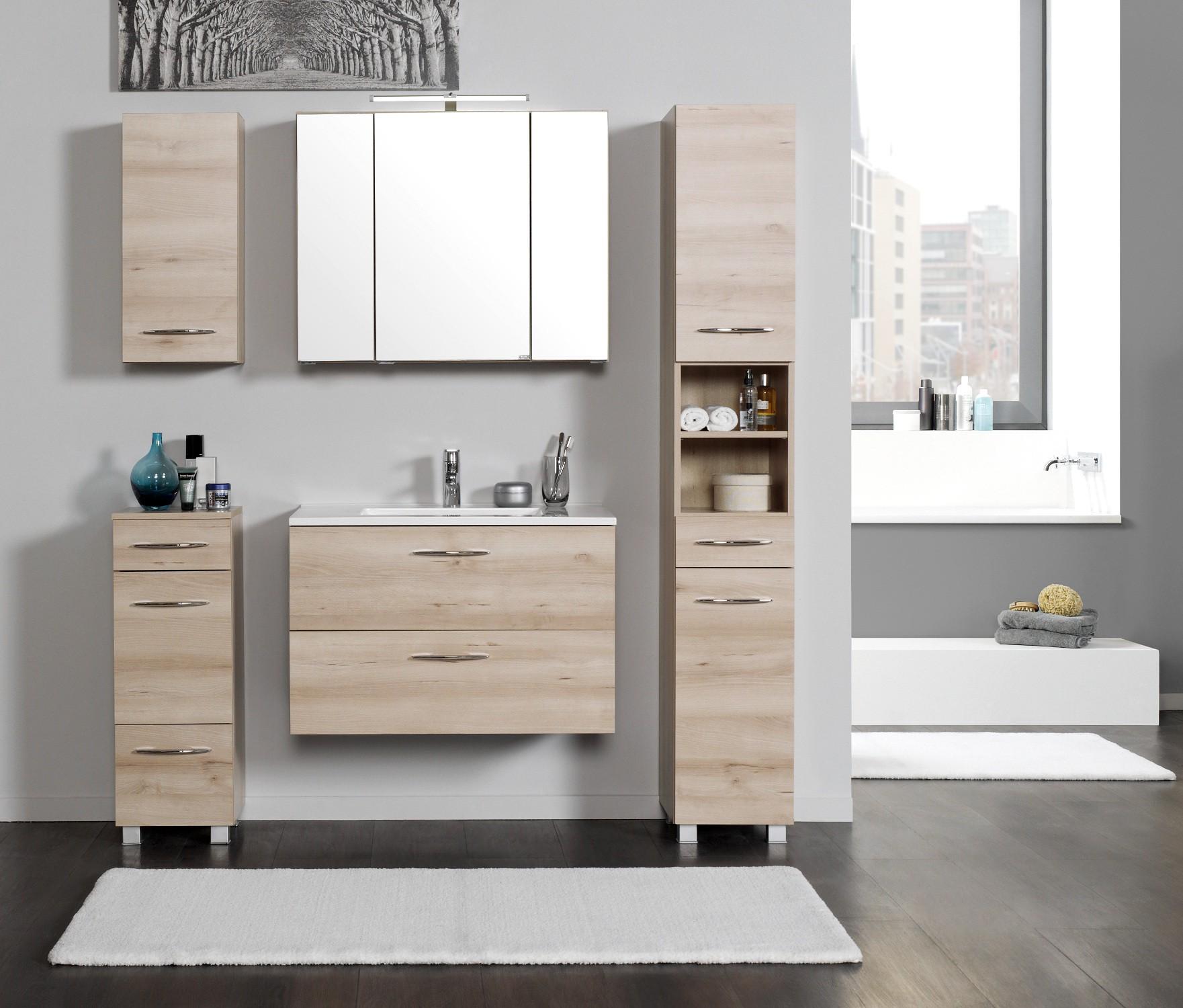 badezimmer set portofino waschplatz set badm bel set mit waschtisch buche iconic ebay. Black Bedroom Furniture Sets. Home Design Ideas