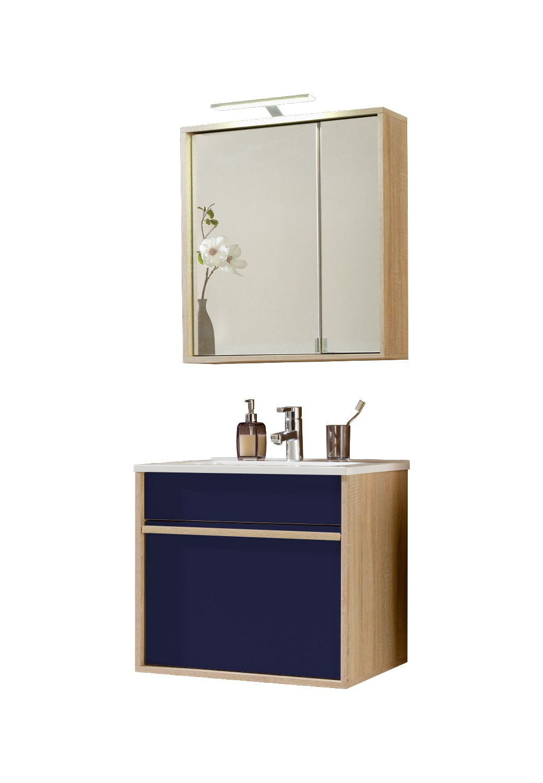 Neu badezimmer badm belset padua 4 teiliges waschtisch for Badmobel set blau