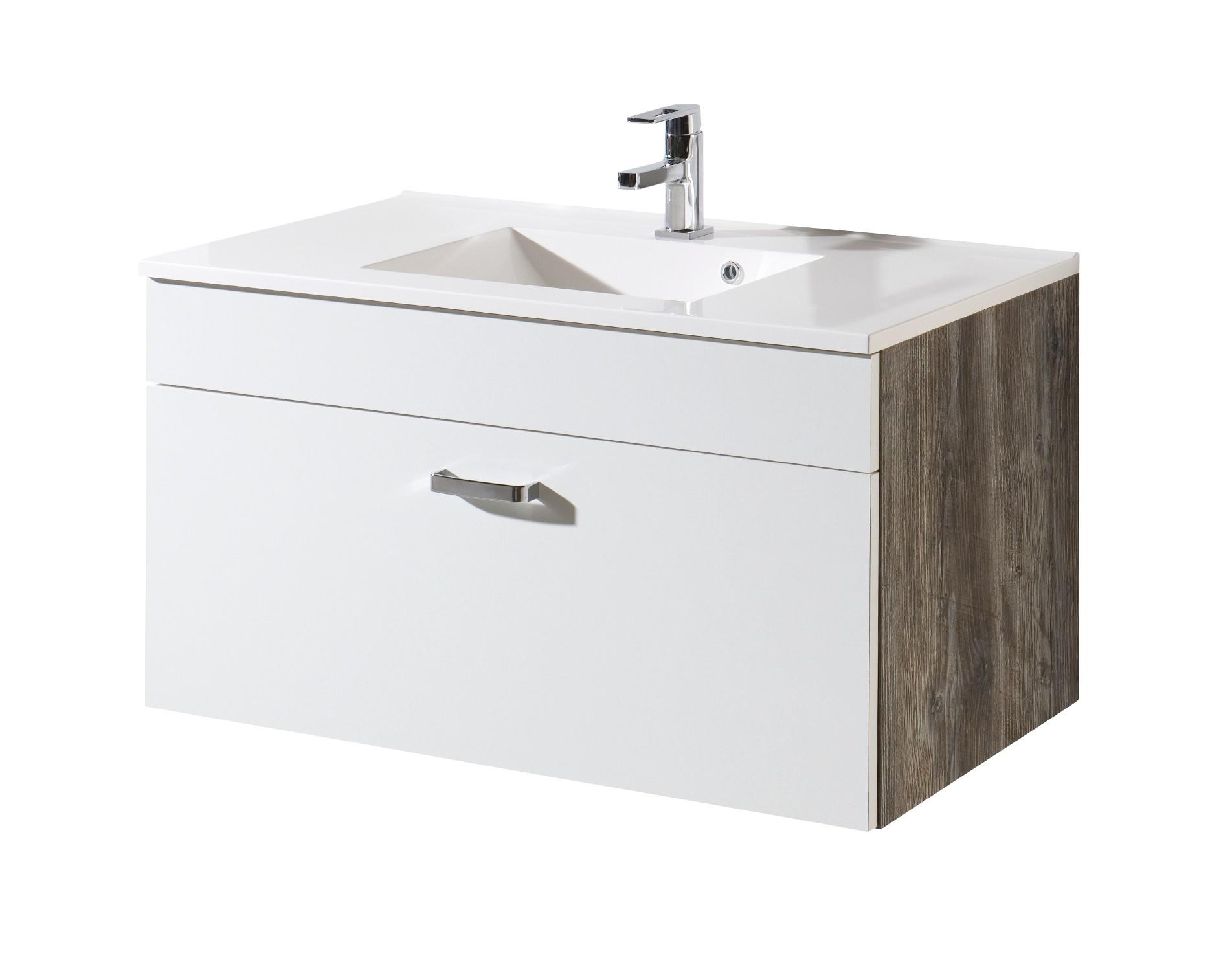 neu badezimmer waschtisch mit becken capri waschplatz. Black Bedroom Furniture Sets. Home Design Ideas