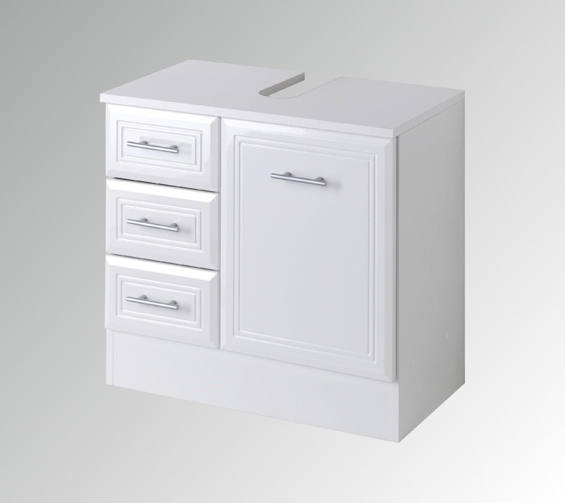 neu badezimmer waschbeckenschrank neapel waschbeckenunterschrank weiss ebay. Black Bedroom Furniture Sets. Home Design Ideas
