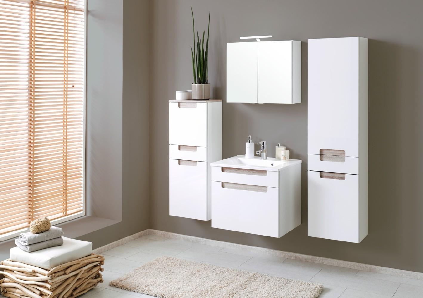 neu badezimmer h ngeschrank siena badezimmerschrank weiss. Black Bedroom Furniture Sets. Home Design Ideas