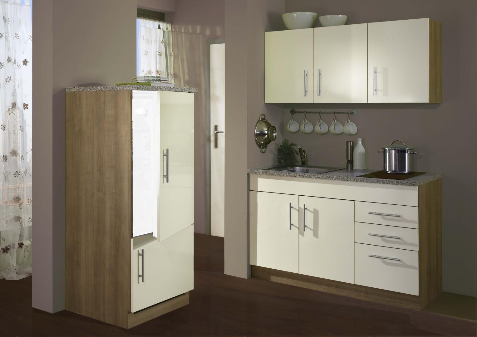 neu singlek che berlin mit glaskeramikkochfeld minik che 180cm b rok che creme porta westfalica. Black Bedroom Furniture Sets. Home Design Ideas