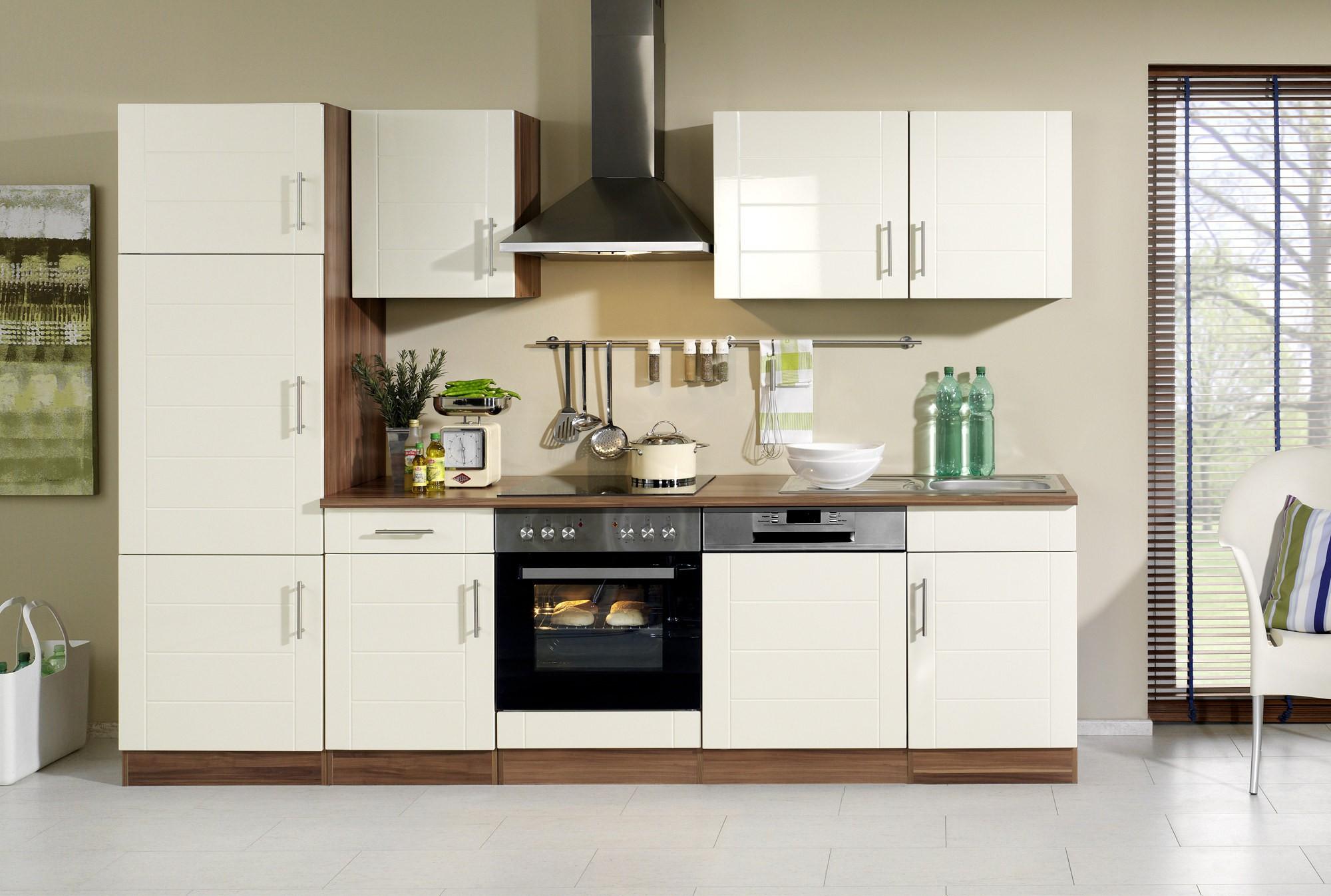 neu k chenzeile nevada k chenblock mit e ger ten 280 cm. Black Bedroom Furniture Sets. Home Design Ideas