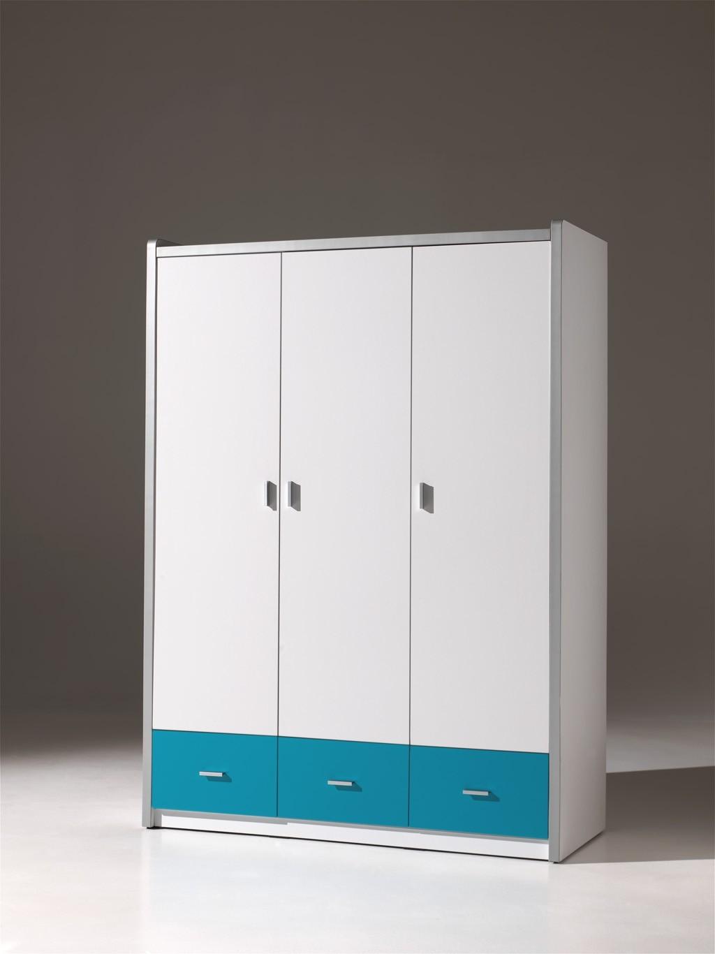 neu kleiderschrank bonny kinderzimmerschrank mit 3 t ren. Black Bedroom Furniture Sets. Home Design Ideas