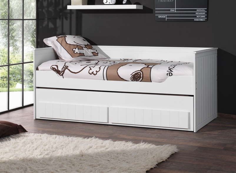 neu kojenbett robin etagenbett mit 2 liegefl chen 90 x 200 weiss. Black Bedroom Furniture Sets. Home Design Ideas