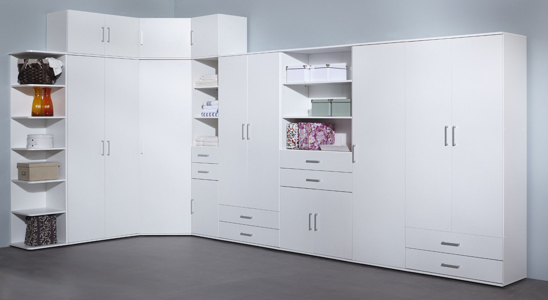 neu mehrzweckschrank ronny aufbewahrungsschrank schuhschrank mit 2 t ren wei ebay. Black Bedroom Furniture Sets. Home Design Ideas