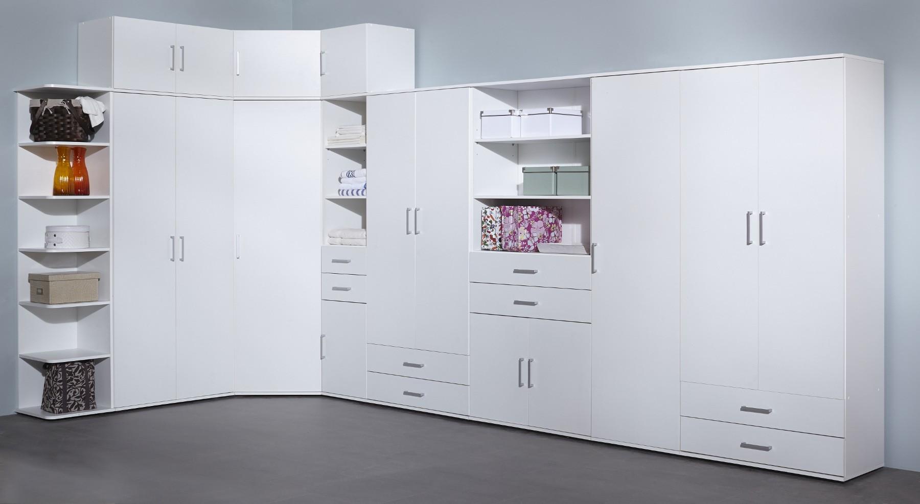 neu mehrzweckschrank ronny aufbewahrungsschrank schuhschrank mit 2 t ren wei ebay. Black Bedroom Furniture Sets. Home Design Ideas