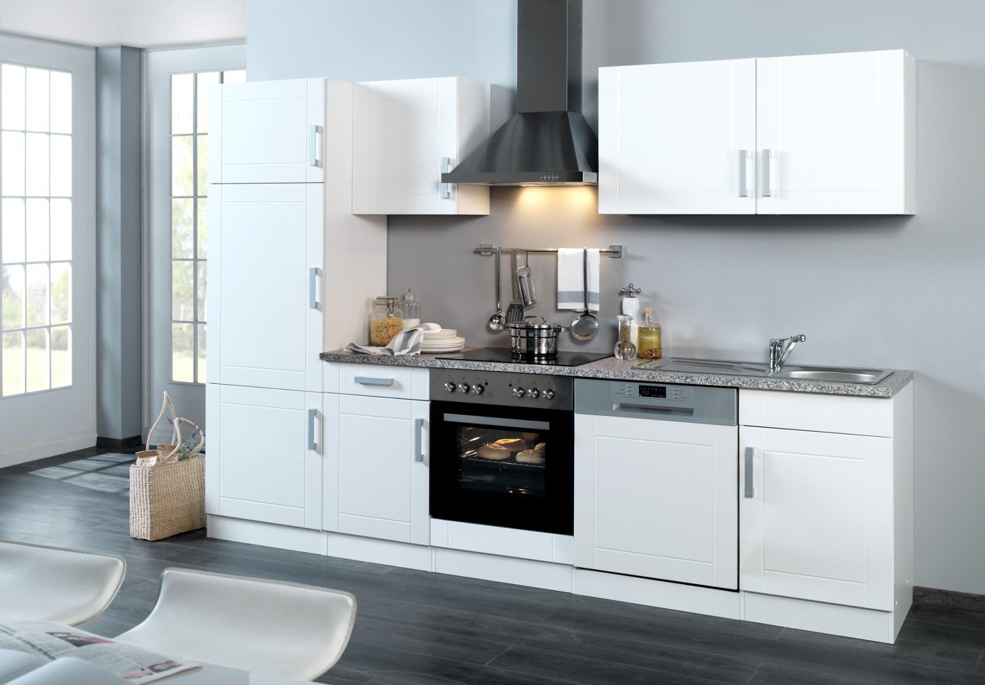 neu k chenzeile varel k chenblock mit e ger ten 280 cm. Black Bedroom Furniture Sets. Home Design Ideas