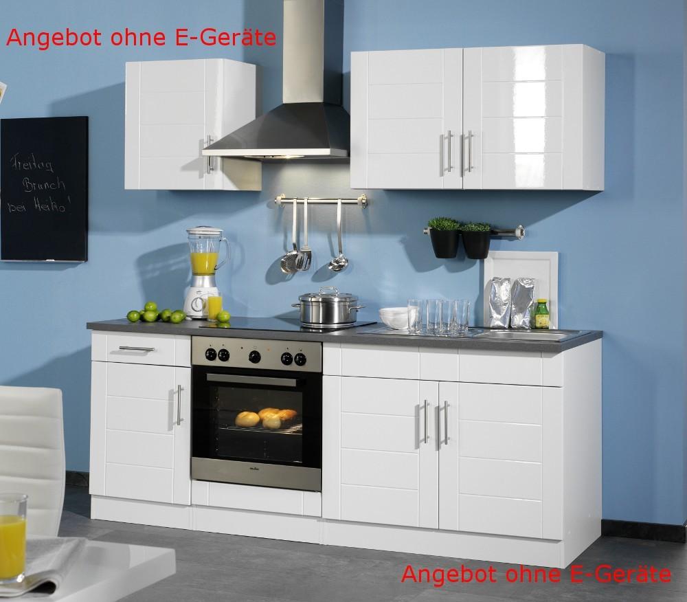 neu k chen leerblock k chenzeile nevada k chenblock 210cm weiss. Black Bedroom Furniture Sets. Home Design Ideas