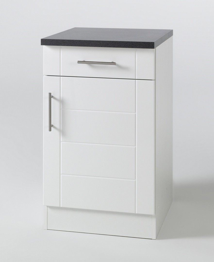 neu k chen unterschrank nevada k chenschrank 50cm weiss ebay. Black Bedroom Furniture Sets. Home Design Ideas