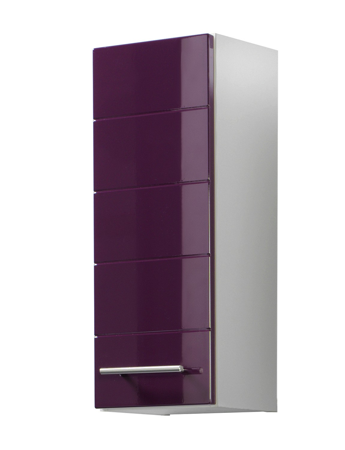 bad h ngeschrank rimini 1 t rig 25 cm breit hochglanz aubergine bad rimini. Black Bedroom Furniture Sets. Home Design Ideas