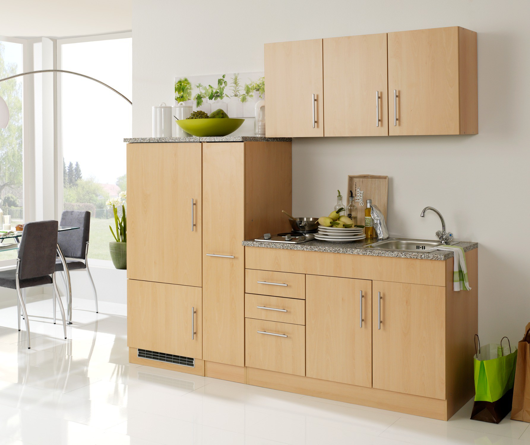 singlek che berlin breite 210 cm buche k che singlek chen. Black Bedroom Furniture Sets. Home Design Ideas