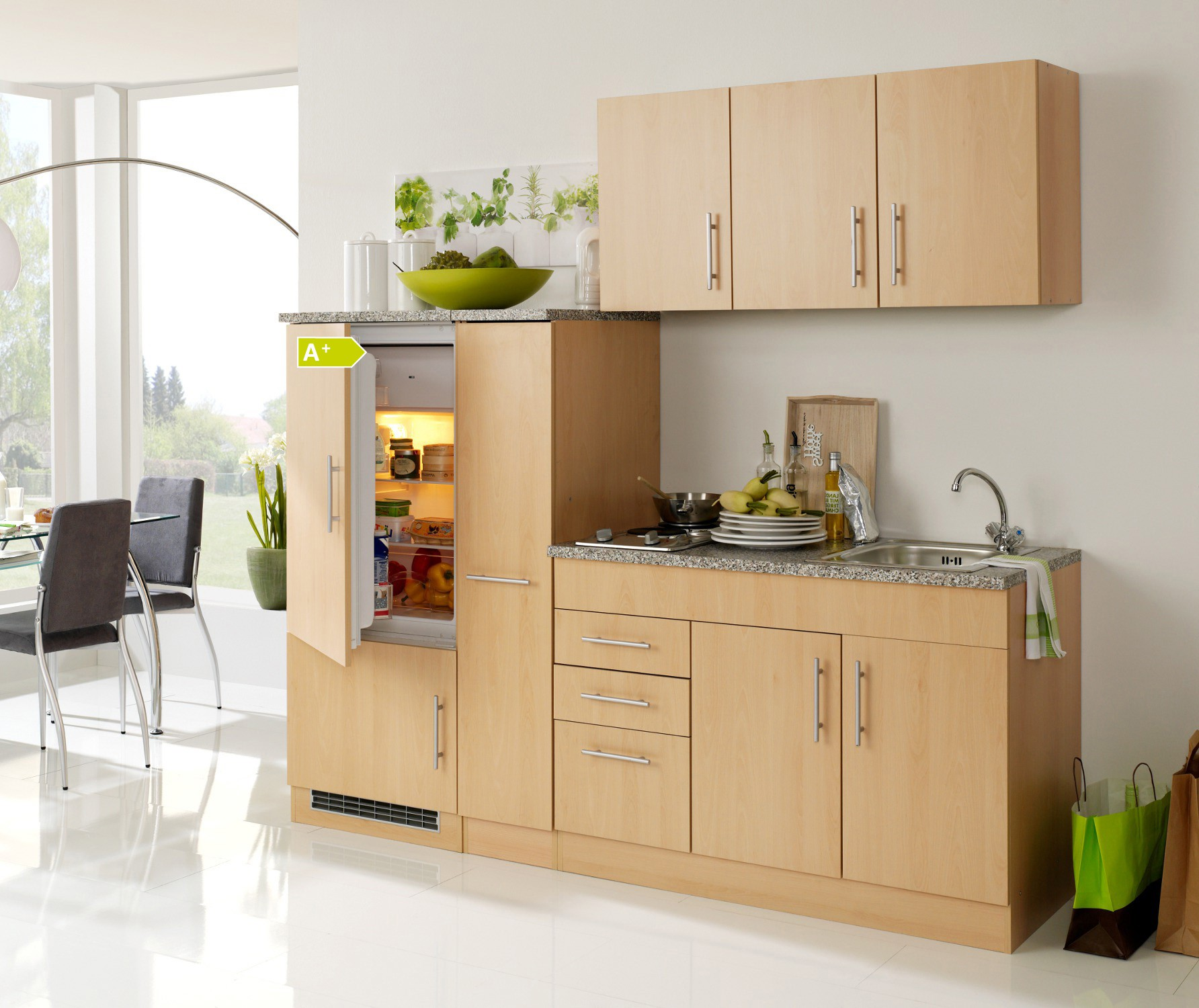 neu singlek che berlin mit k hlschrank minik che. Black Bedroom Furniture Sets. Home Design Ideas