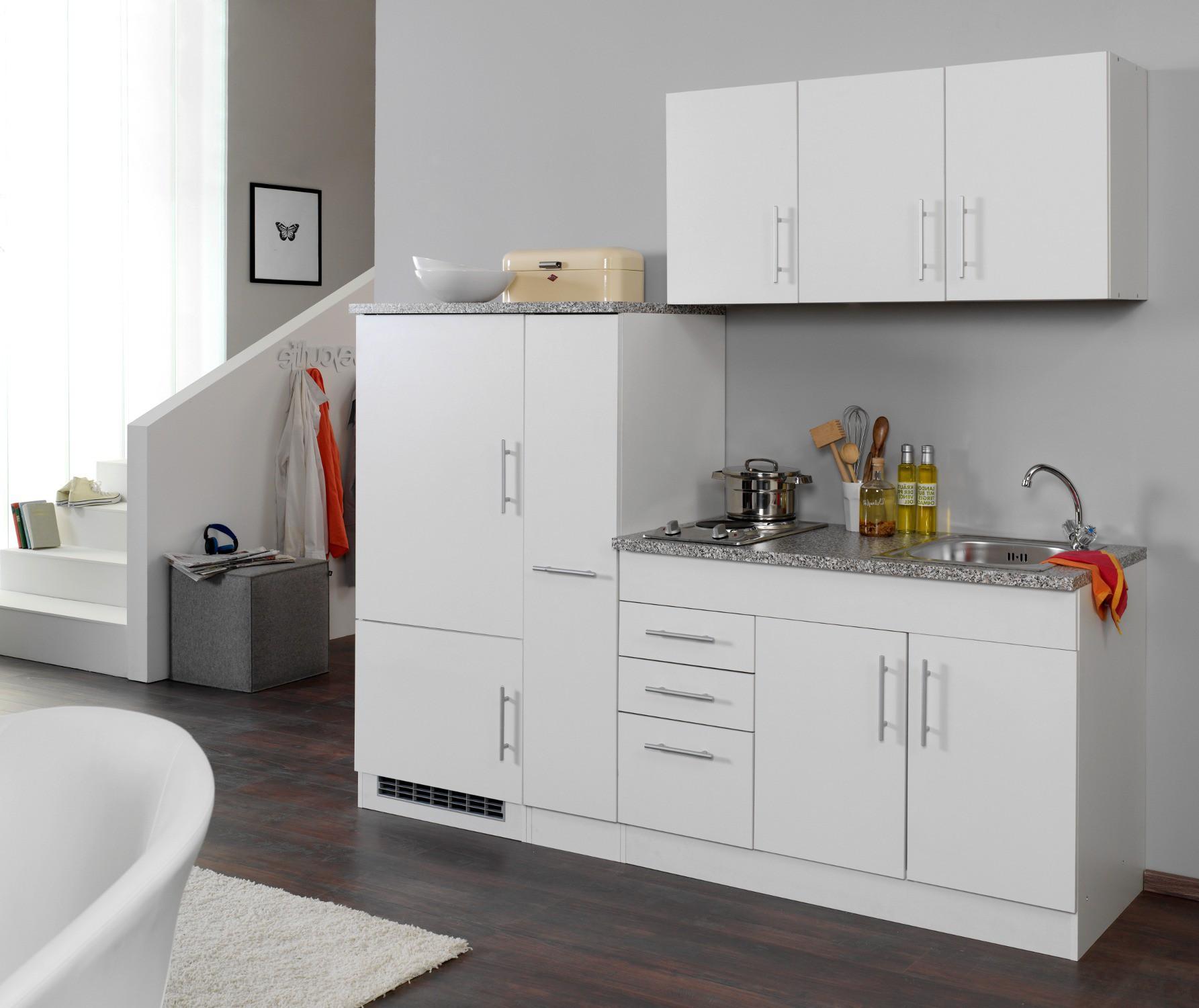 singlek che berlin breite 210 cm wei k che singlek chen. Black Bedroom Furniture Sets. Home Design Ideas