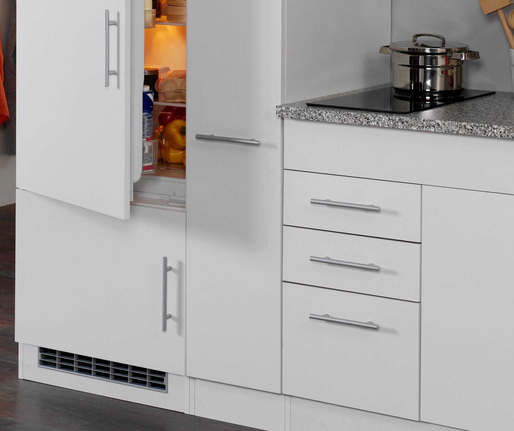 neu singlek che berlin mit k hlschrank und glaskeramikkochfeld 210cm wei ebay. Black Bedroom Furniture Sets. Home Design Ideas