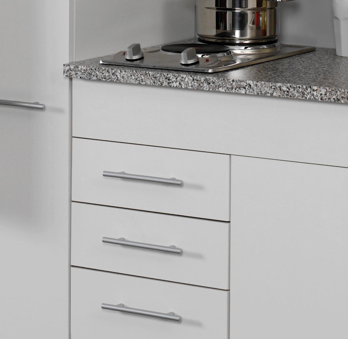 singlek che berlin mit k hlschrank breite 210 cm wei k che singlek chen. Black Bedroom Furniture Sets. Home Design Ideas