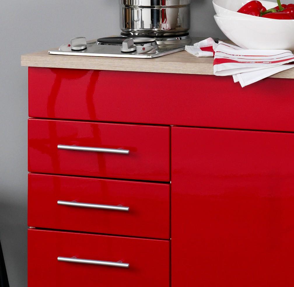 neu singlek che berlin minik che 120cm b rok che hochglanz rot sonoma ebay. Black Bedroom Furniture Sets. Home Design Ideas