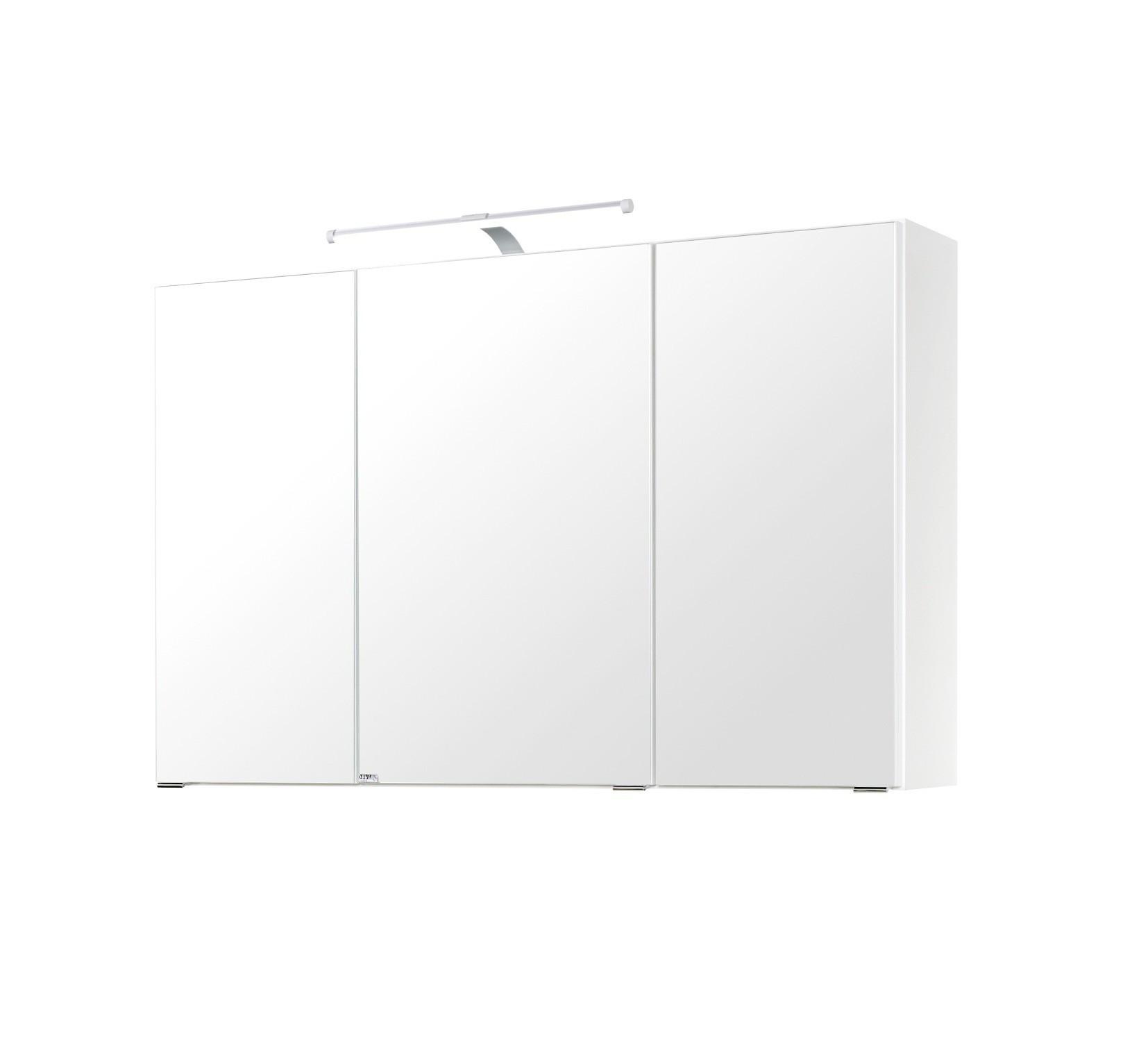 badm bel set florida waschtisch spiegelschrank 4 teilig 100 cm breit hochglanz wei. Black Bedroom Furniture Sets. Home Design Ideas
