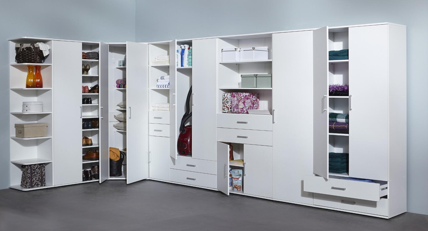 universalschrank ronny mehrzweckschrank system 1 t rig 40 cm breit wei wohnen. Black Bedroom Furniture Sets. Home Design Ideas