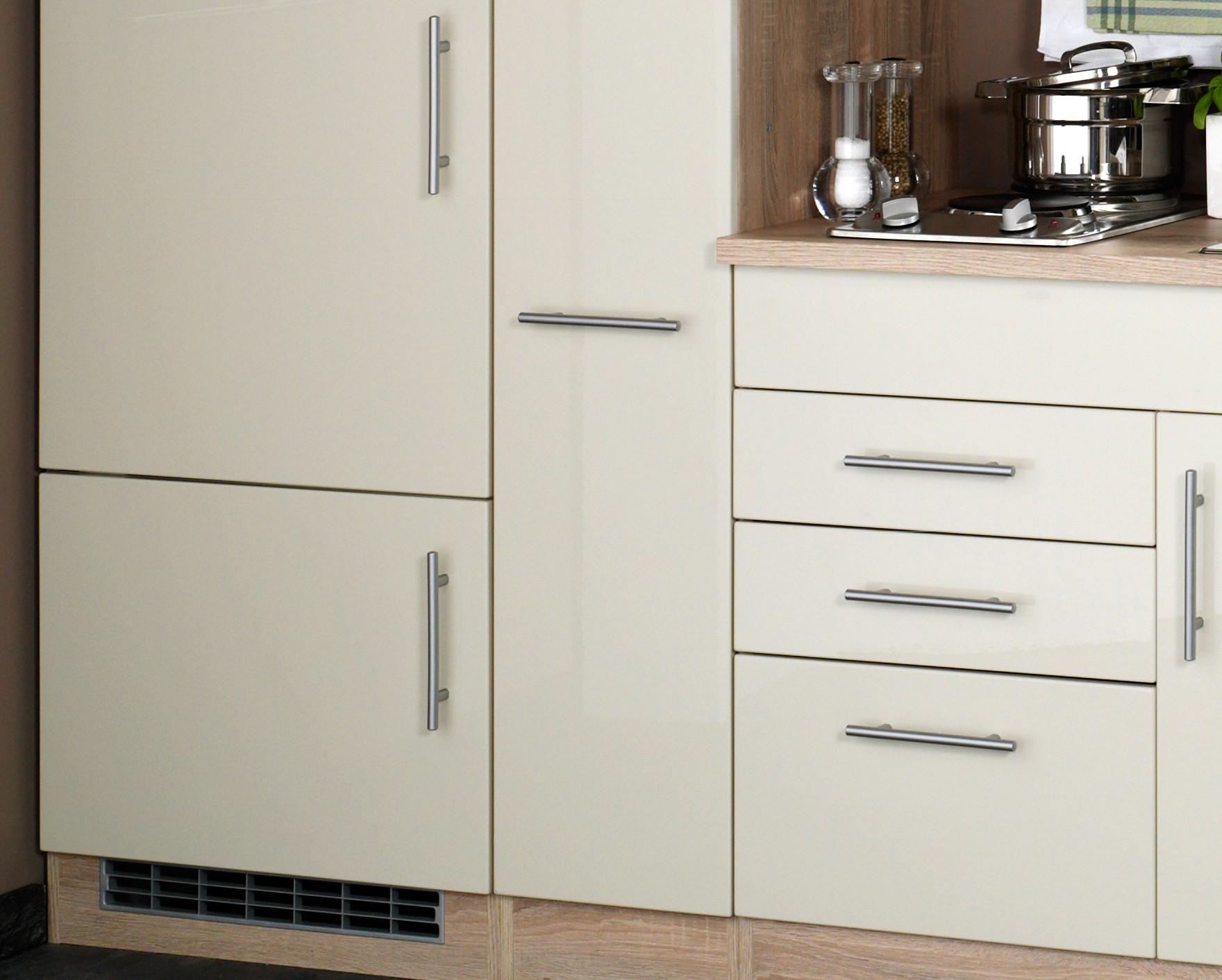 singlek che berlin breite 190 cm hochglanz creme eiche sonoma k che singlek chen. Black Bedroom Furniture Sets. Home Design Ideas