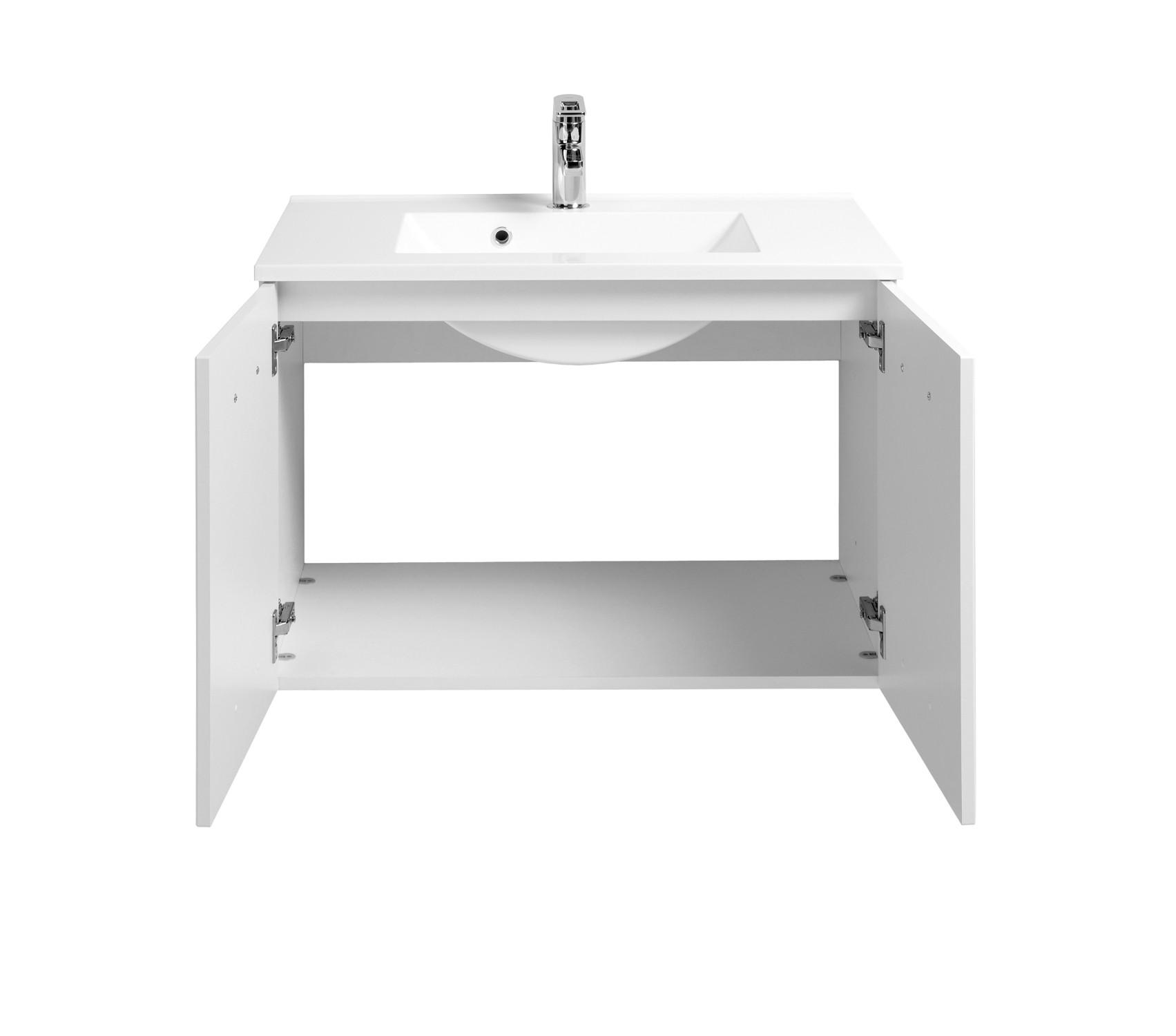 bad waschtisch bologna 2 t rig 80 cm breit hochglanz wei wei bad bologna. Black Bedroom Furniture Sets. Home Design Ideas